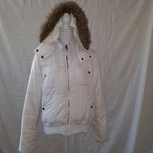 Tommy Hilfiger White Puffer Jacket Large